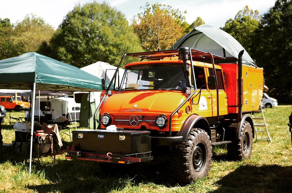 We're always fans of orange, especially on a Unimog! Photo:  J  B