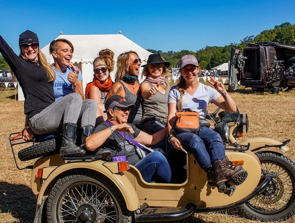 Ural, the unofficial coffee run vehicle of Overland Expo East. Photo:  Women Overlanding The World