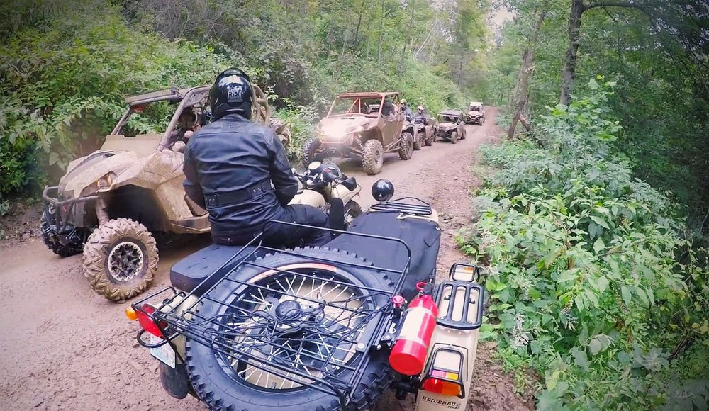 The UTV and side-by-side folks were curious about our sidecar motorcycles.