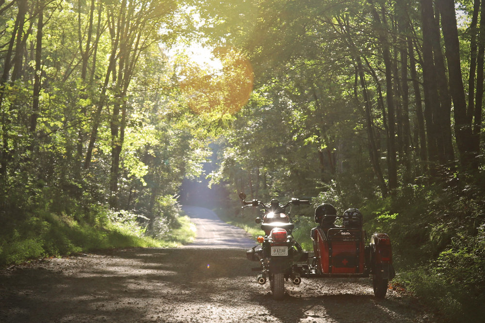 Ural cT touring gravel road