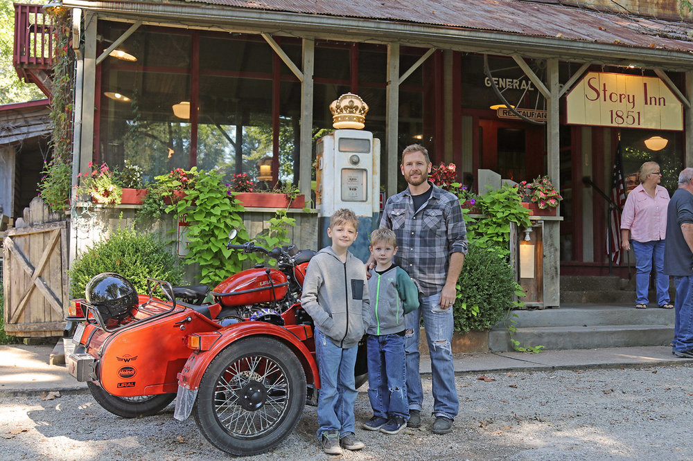 Not far away is the historic Story Inn near Nashville, IN, a great place to stop for lunch.