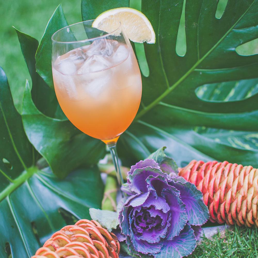 Xilan'Tonic - - 2 1/2 oz de Xila- 1 oz jugo de naranja- 1⁄2 oz jugo limon- 1⁄2 oz de miel de agave- Top de agua quina