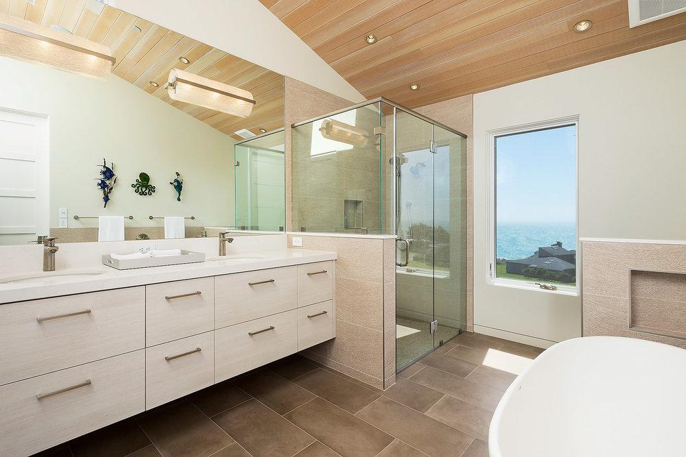 Master Bath #1 with Custom Wood Cabinets
