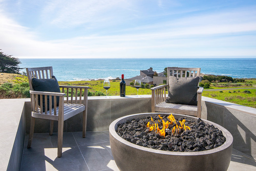 Oceanview Deck with Fire Bowl