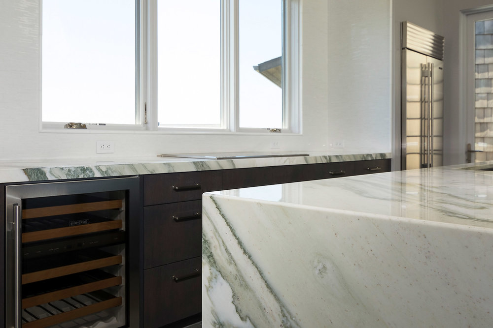 Waterfall Edge Custom Marble Countertop