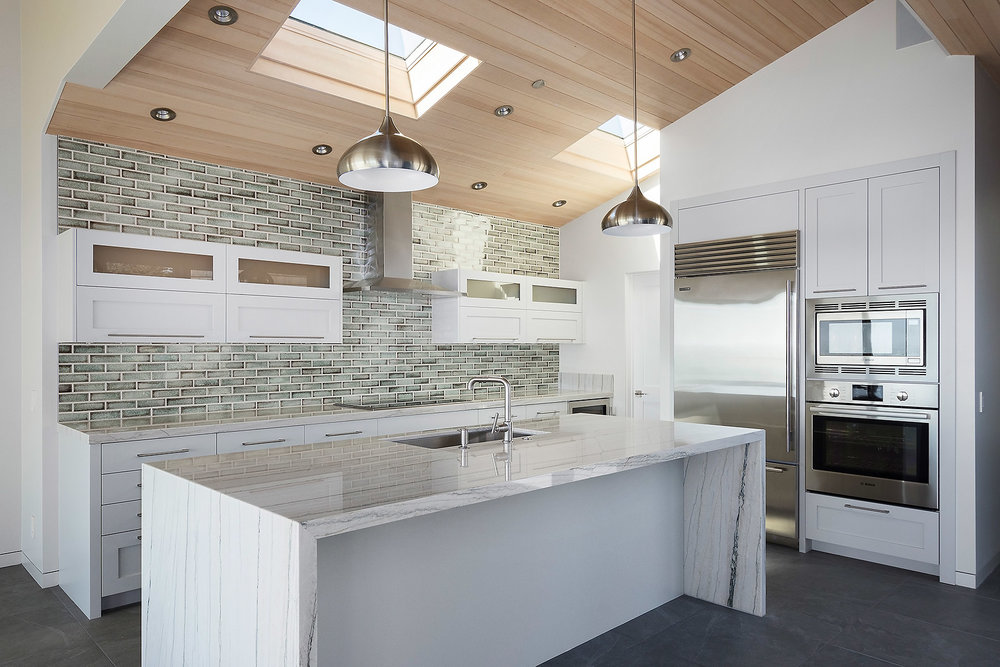 Kitchen with Custom Marble Countertop