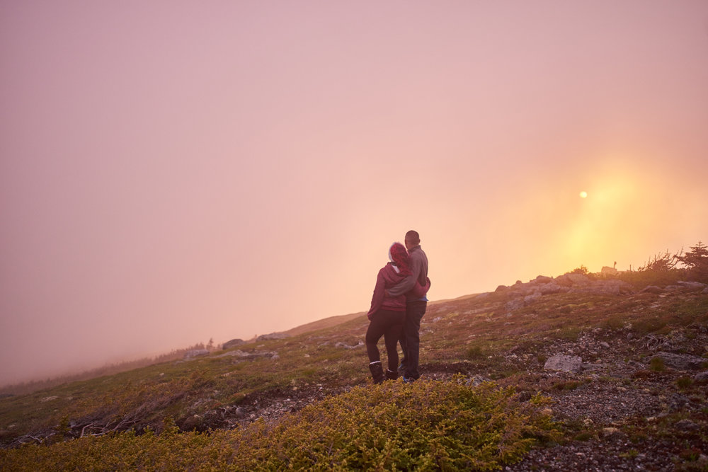 Sunrise on Mount Washington - ENGAGEMENT PHOTOGRAPHY