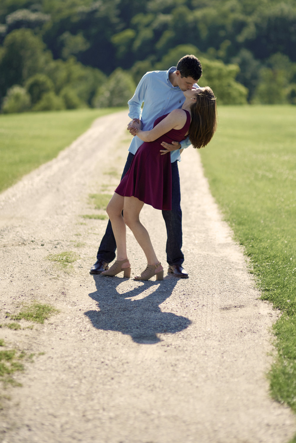Maureen & Christopher's summertime engagement session in Manchester, Vermont.