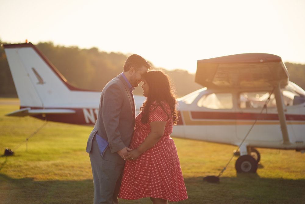 Julia and Russell's Fall engagement session at Plum Island Airport in Newburyport, Massachusetts.