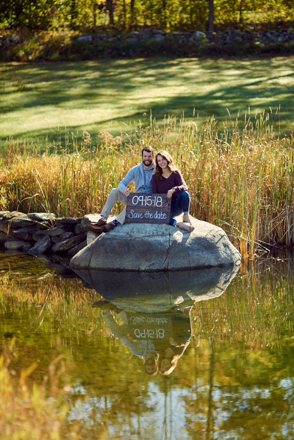 Mariah and Jake's Fall engagement session at their family home in Bradford, Vermont.