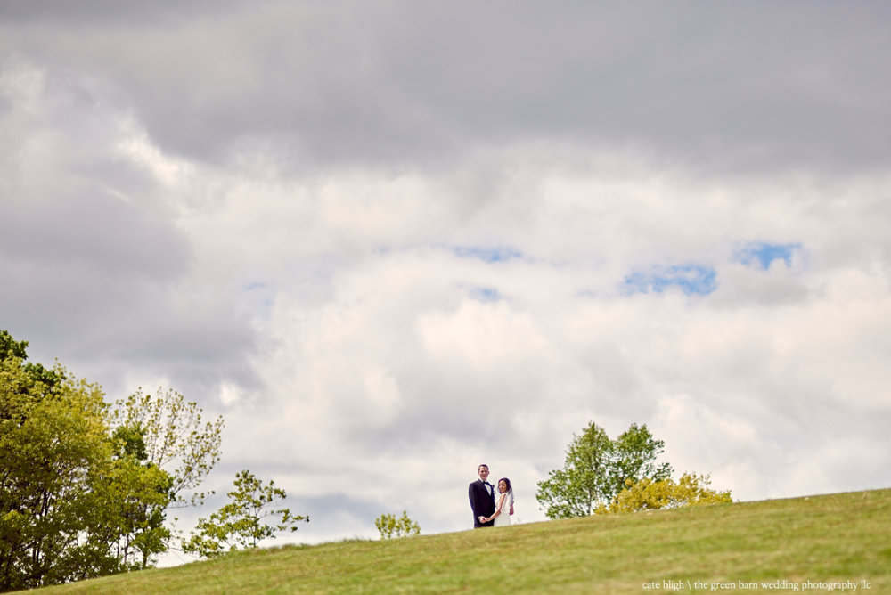 Bride and Groom portrait from far away