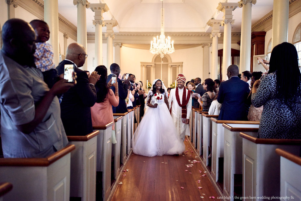 Serah and Onche's wedding at Christ's Church in Cambridge, Massachusetts