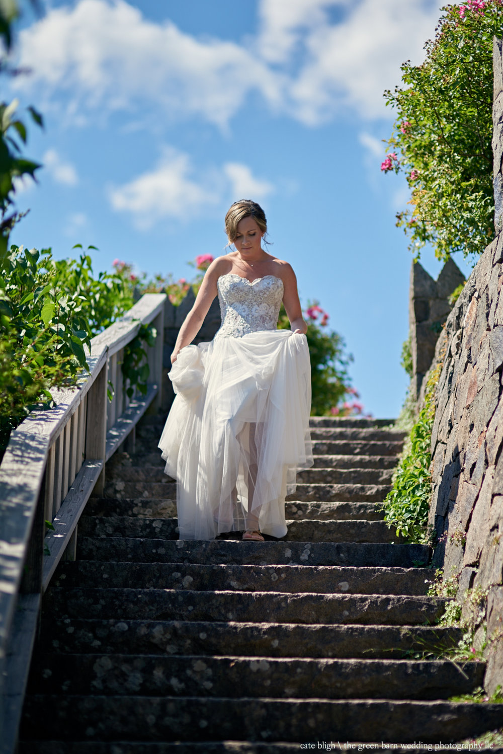 Bride at Castle in the Clouds Mansion NH