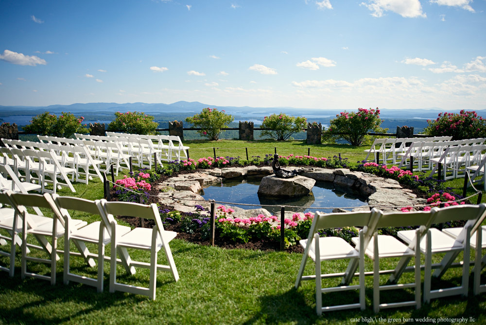 Outdoor ceremony site at Castle in the Clouds NH Lake Winnipesaukee