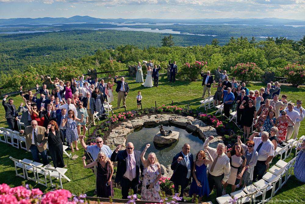 Outdoor ceremony at Castle in the Clouds amazing view NH