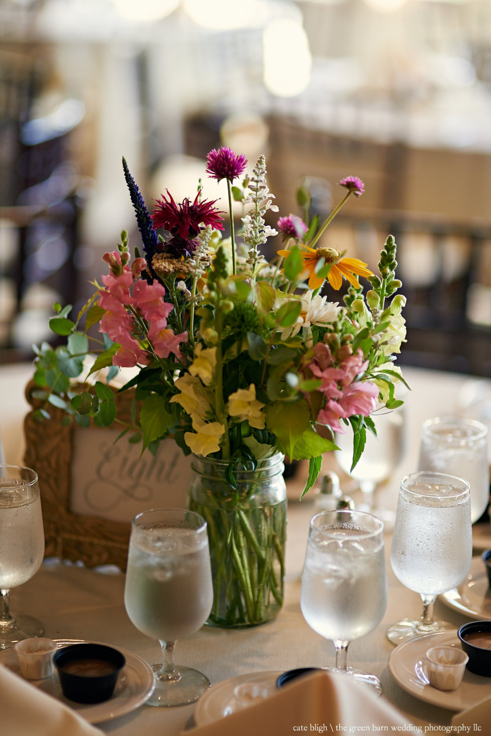 Rustic centerpiece inspiration NH wedding Castle in the Clouds