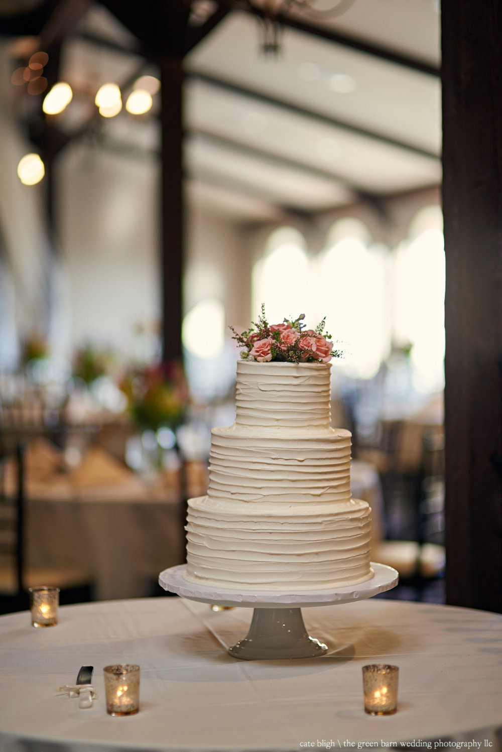 Simple wedding cake inspo NH rustic wedding reception Castle in the Clouds