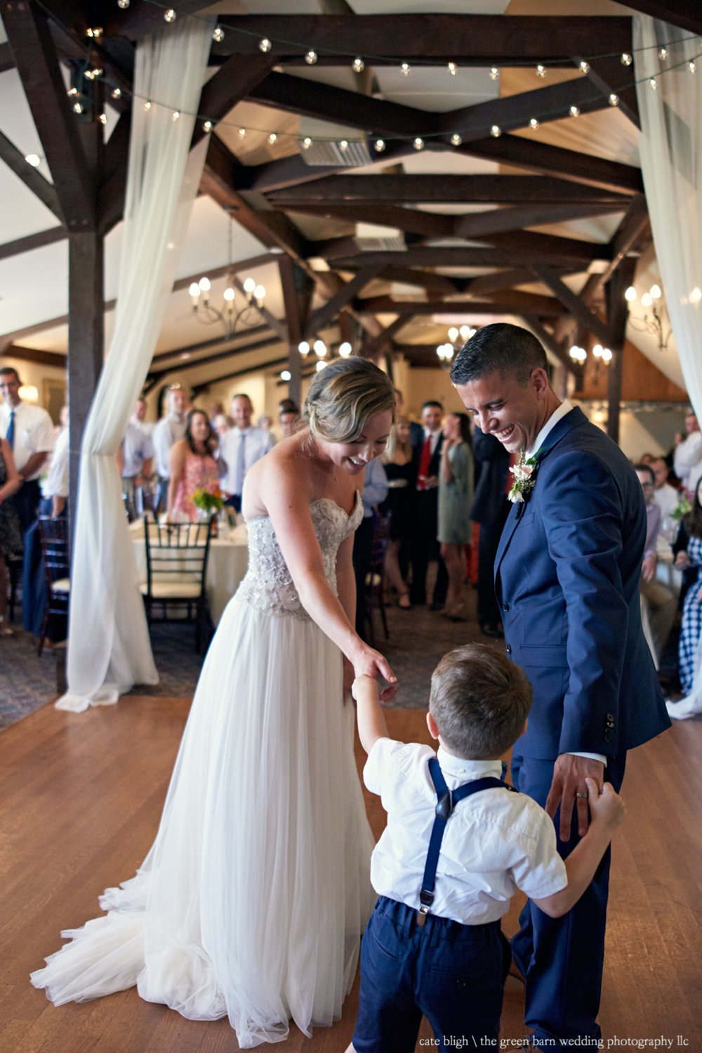 First Dance bride and groom with son wedding reception at Castle in the Clouds NH