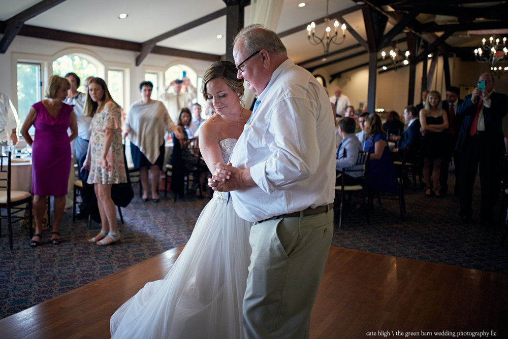 Father daughter dance wedding reception bride at Castle in the Clouds NH