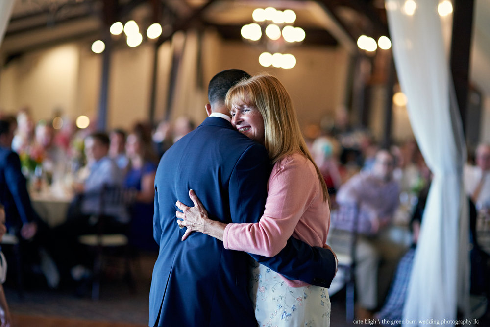 Mother son dance groom wedding reception at Castle in the Clouds NH