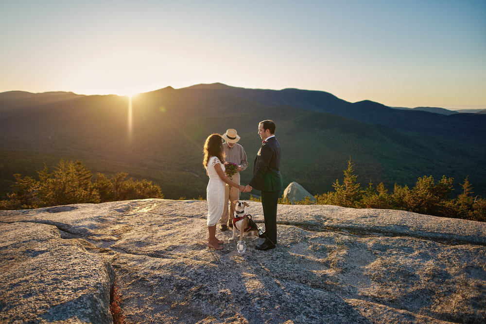 Imagine an intimate ceremony in the beautiful white mountains of new hampshire!