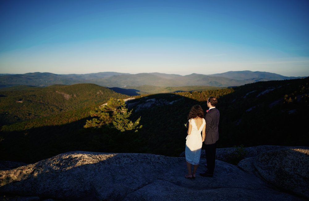 Liz and Tom's Sunrise Elopement on Welch Mountain in The White Mountain National Forest in New Hampshire