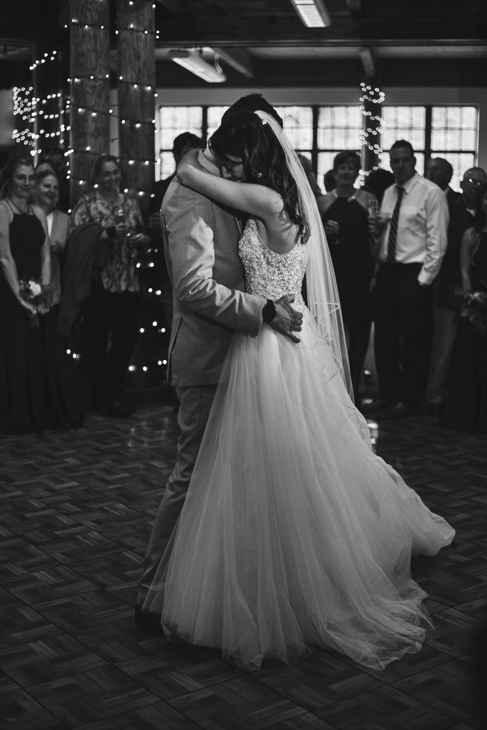 Wedding Photography by Cate Bligh | A wedding reception in the Sunapee Lodge in Newbury, NH