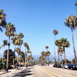 Driving down through beautiful Santa Barbara