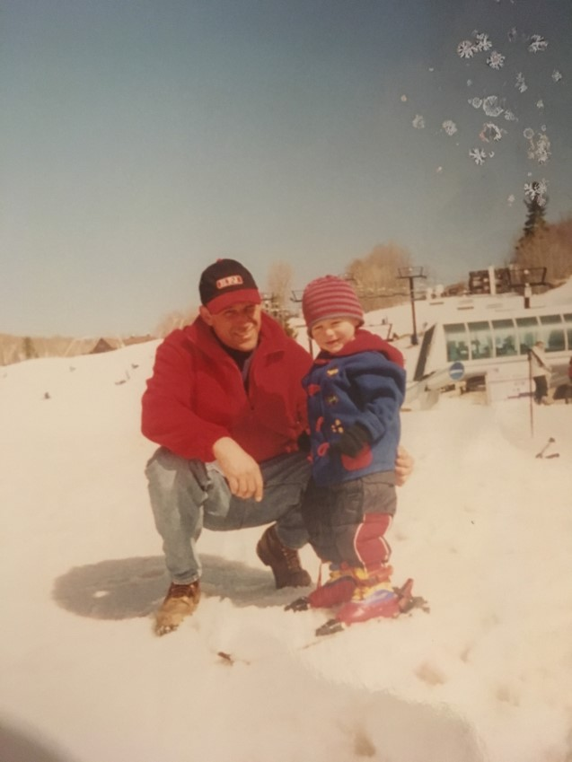 Circa 2000 with my Dad at Okemo Mountain in Ludlow, VT