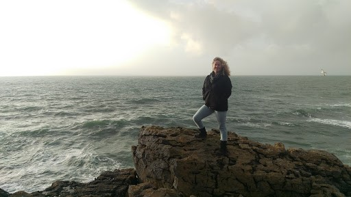 Standing on the Mini Cliffs in the Burren, Ireland. Spring 2018