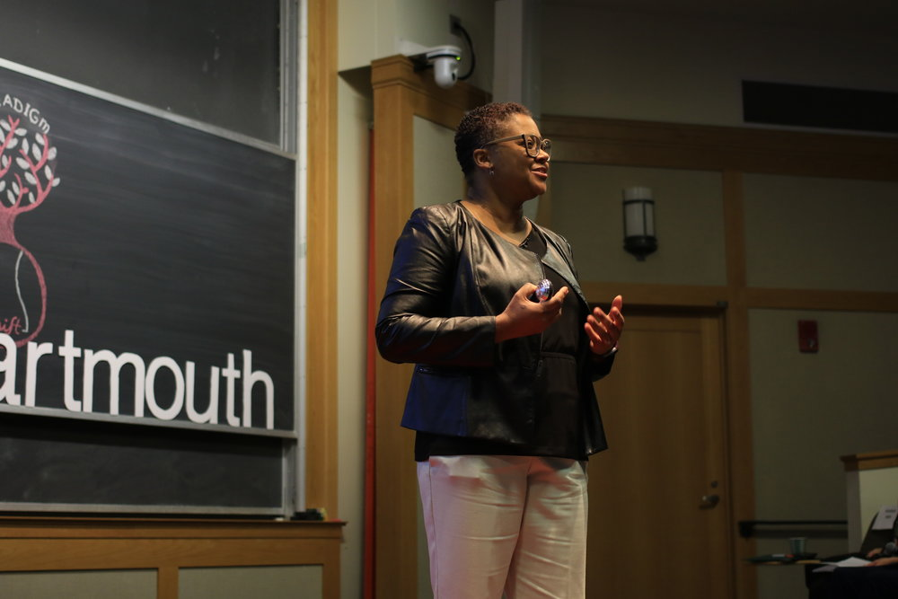 Me speaking at TEDxDartmouth 2018- copyright Dartmouth College