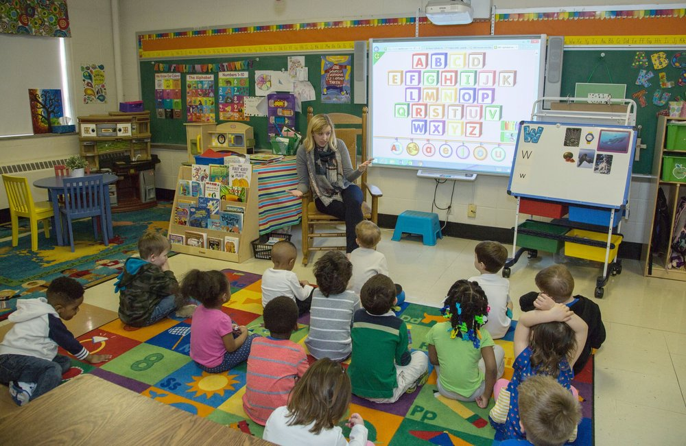 St. Roch offers two classrooms of preschoolers designated by age. Admission to preschool starts at age 3.