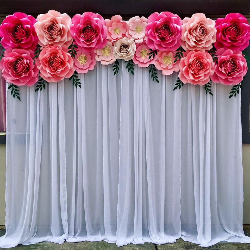 Mini Paper Flowers with Draping