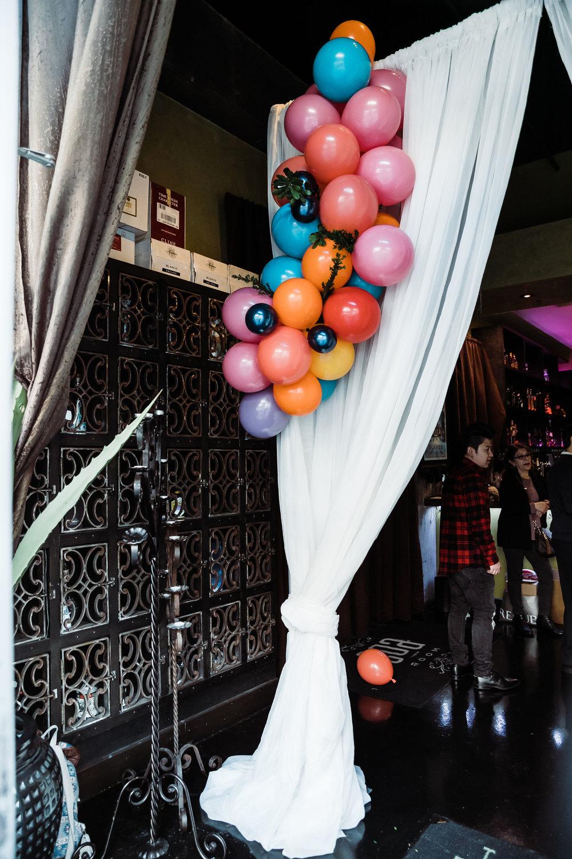 Balloon Decor/Welcome Draping