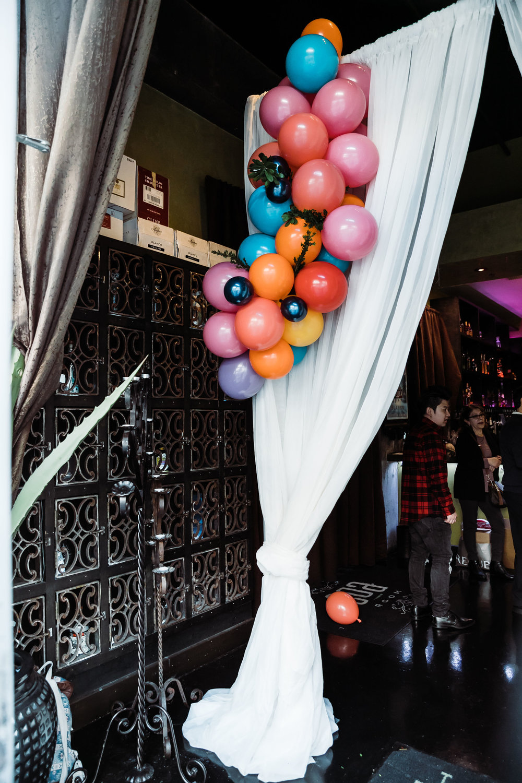 Balloon Decor/Entrance Draping
