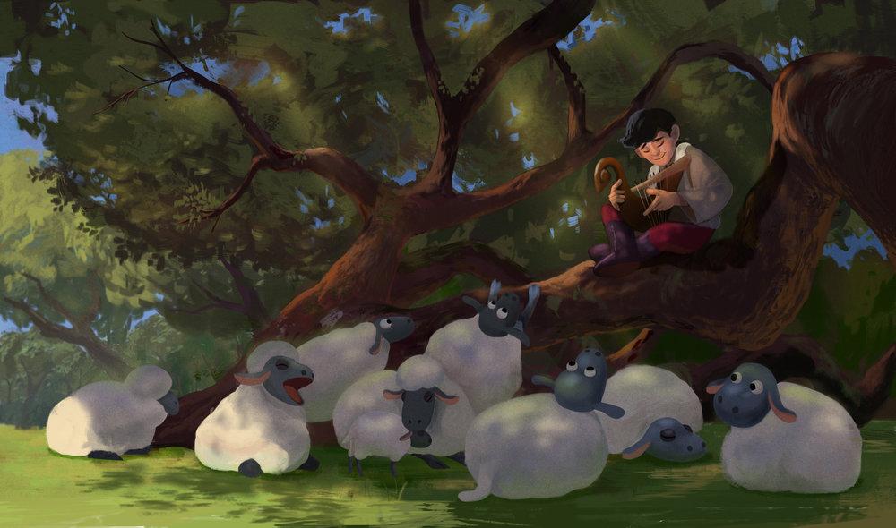 David and the sheeps copy.jpg