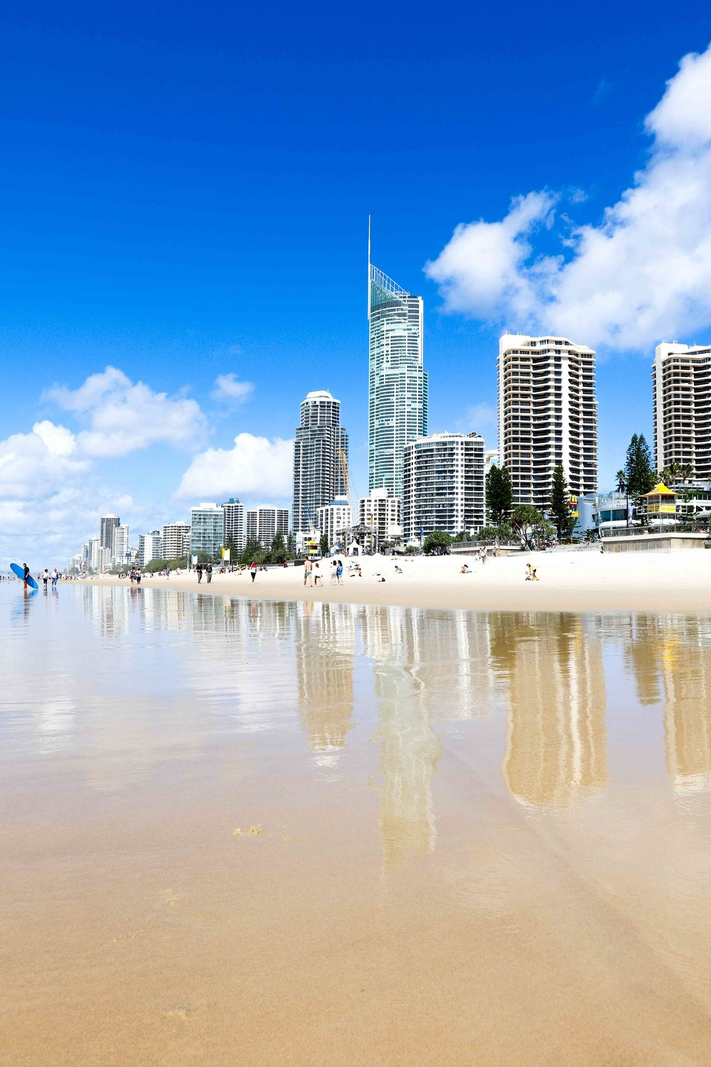 Gold coast australia piers haskard including sky scrapers built into the dunes of this coast and endless beaches stretching in each direction creates some unique beach scenes voltagebd Images