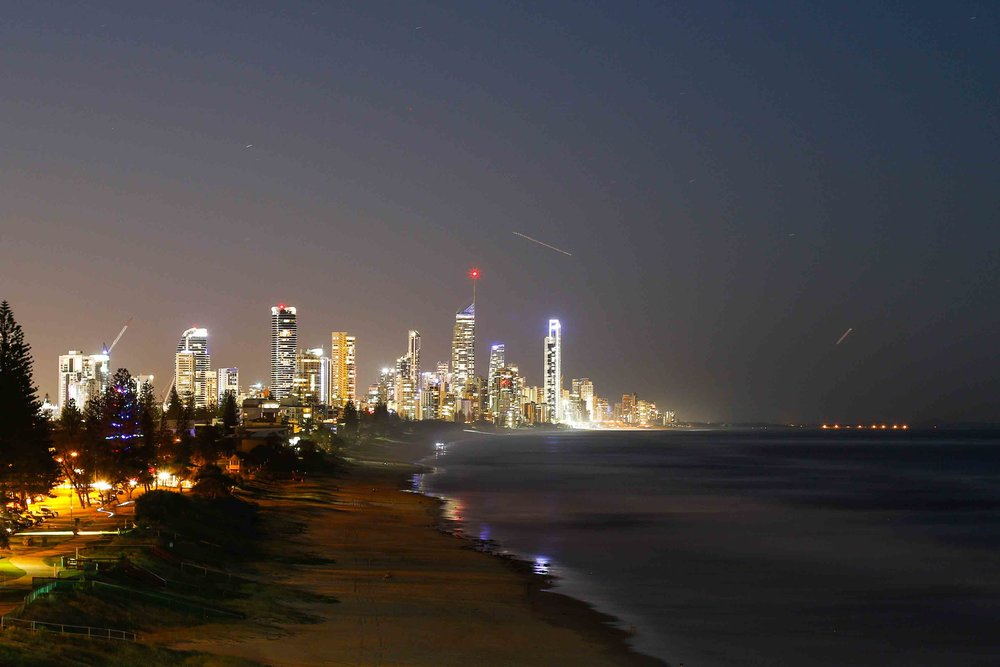 Dusk over Surfers Paradise // Miami Headland