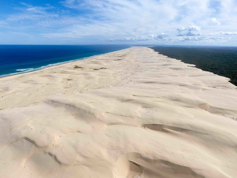 The mind blowing scale of the Stockton sand dunes. I had no idea we had such massive dunes so close to Sydney prior to this adventure.