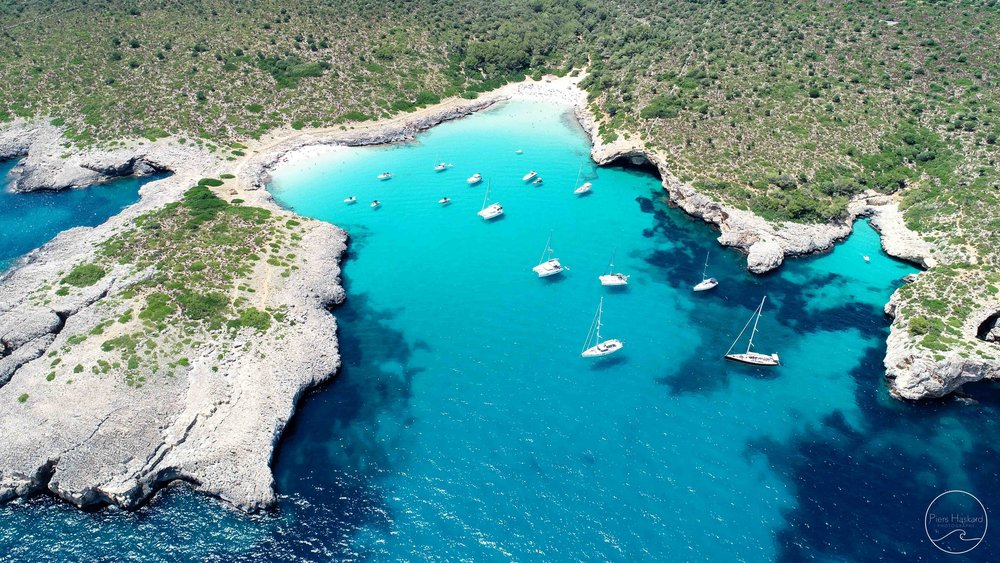 Cala Varques from above.