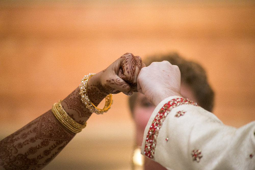 fist bump wedding