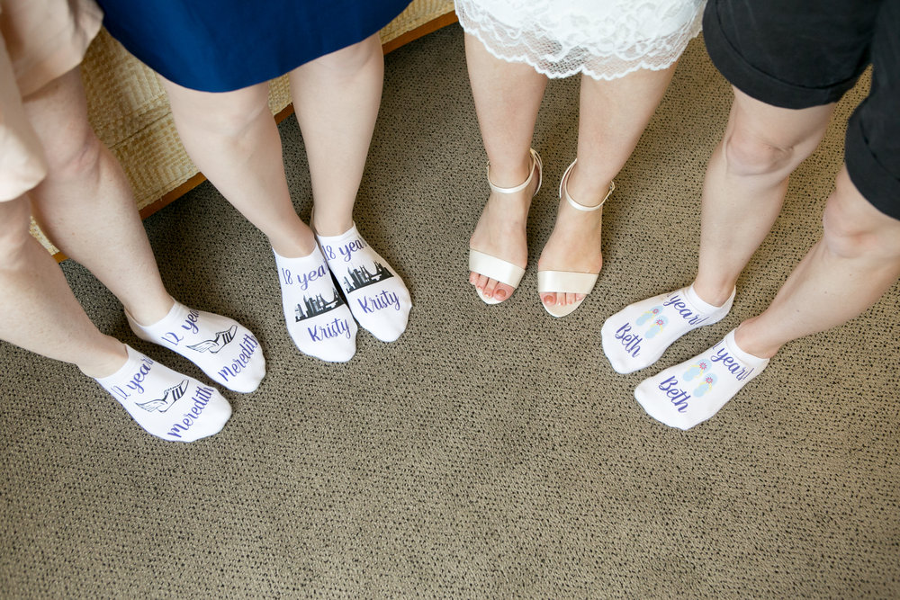 personalized wedding socks