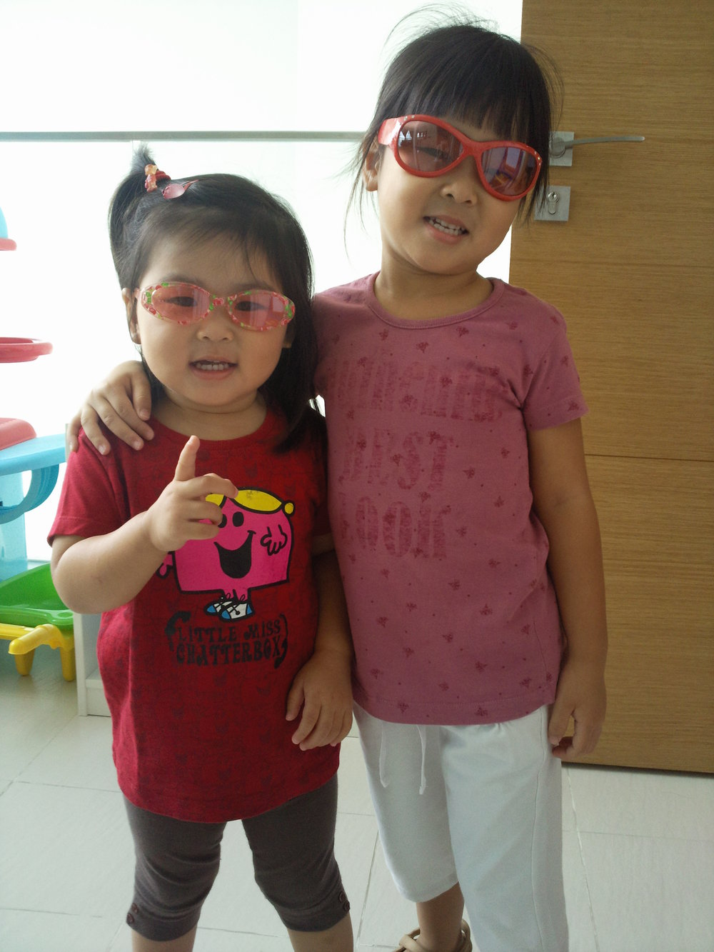 Kayla Wee (left) with sister Vera Wee