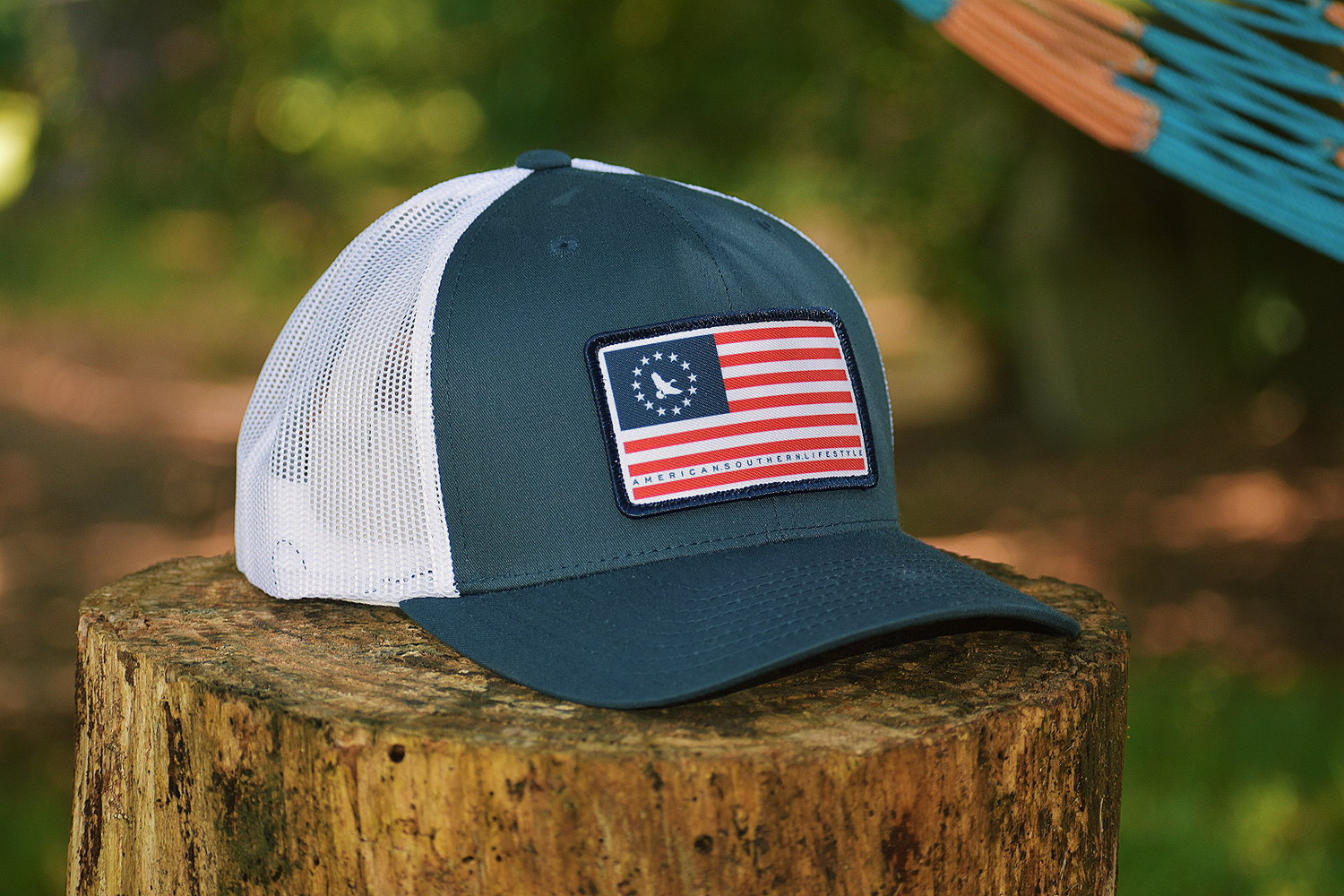 20a26cf74f9 American Patch Trucker Hat - Navy — Southern Mallard Clothing®