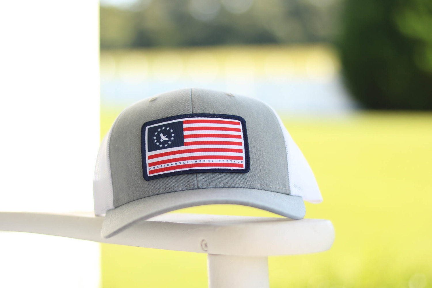 9ecd20e5369 American Patch Trucker Hat- Gray — Southern Mallard Clothing®