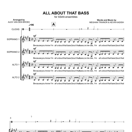 All About That Bass (Meghan Trainor)  SSAA