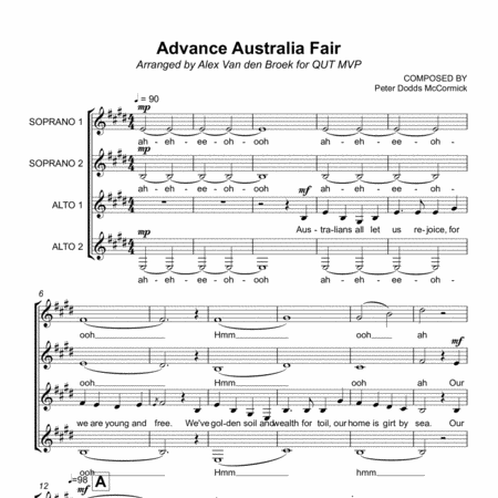 Advance Australia Fair SSAA