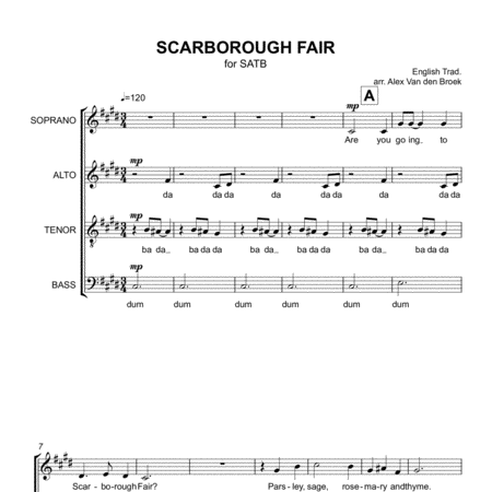 Scarborough Fair SATB