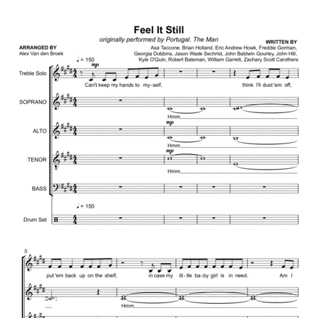 Feel It Still (Portugal The Man) SATB