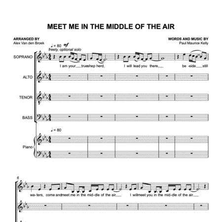 Meet Me in the Middle of the Air (Paul Kelly) SATB with Piano Accompaniment